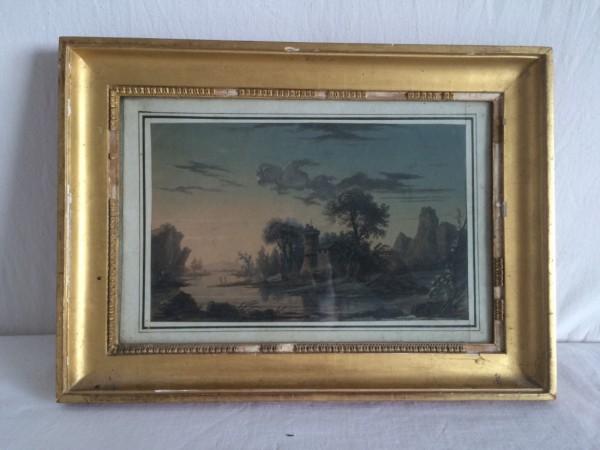 Jean-Baptiste POURCELLY (1791-1802) - Aquarelle Gouache/Papier - Paysage