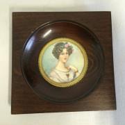 Portrait Miniature Femme Galante Signé - Fin XIXeme