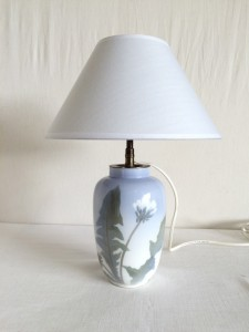 Lampe Royal Copenhage en porcelaine Debut XXeme - ART NOUVEAU