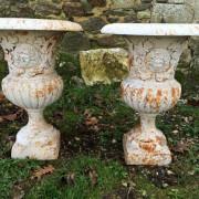Grand Paire de Vases Médicis en Fonte