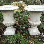 Paire de Vases Medicis en Fonte 46cm