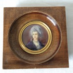 Portrait Miniature Femme signé '' DOUILLARD '' XIXeme