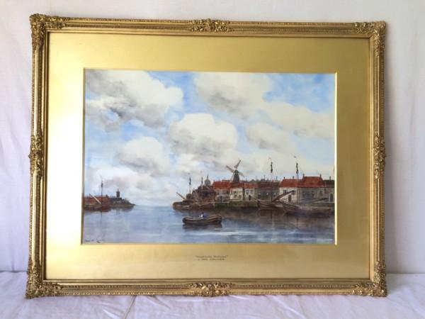 (1836-1909) Jan VAN COUVER - Aquarelle sur papier - Shedrecht Holland
